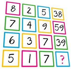 MATH PUZZLE: Can you replace the question mark with a number? Thinking Skills, Critical Thinking, Picture Logic, 11 Plus Exam, Math Olympiad, Le Sphinx, Brain Teasers With Answers, Math Talk, Math Challenge