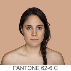 humanæ - Accurate Pantone color matches of skin tone. This is the neatest blog! She takes an 11px x 11 px representation of a person's skin tone and color matches it to it's nearest pantone color!