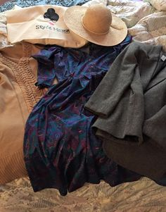 Fashionista Friday: The Style Mavens aka Stylish Snow Bunnies | DC Goodwill Fashionista: January's haul had me aching for summer with that straw hat find. She got some really unique textures and prints in her basket.