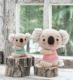 Free Japanese Craft Patterns: Koala Bears Amigurumi Soft Toy Free Japanese Croch...