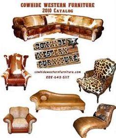 Cowhide Western Furniture | Cowhide Leather