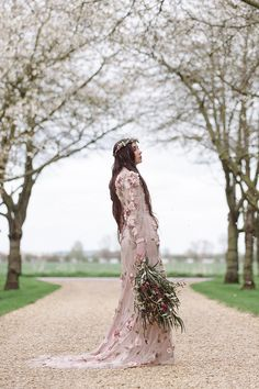 Floral Dress Gown Pink Bride Bridal Cherry Blossom Soft Spring Wedding Ideas http://www.photographybybea.co.uk/