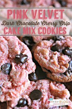 Pink Velvet Cherry Chip Cookies | Cake Mix Cookies | TodaysCreativeBlog.net #DelightFulls #NestleTollHouse #spon