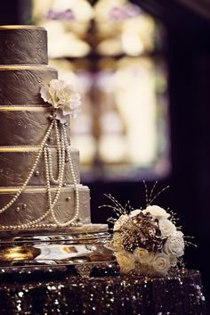 Art Deco Wedding Gilded to the Hilt