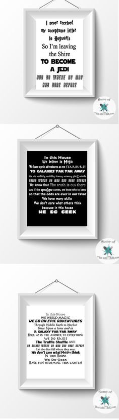 In Our Home Nerdy Printables! Any nerd or geek will love these free nerdy printables!