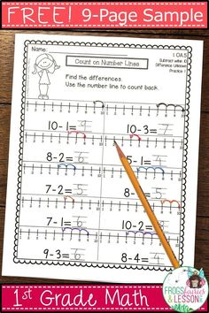 Free First Grade Math Practice Worksheets First Grade Teachers, 1st Grade Math, Kindergarten Math, Teaching Math, Grade 1, Second Grade, Teaching Numbers, Teaching Ideas, Math