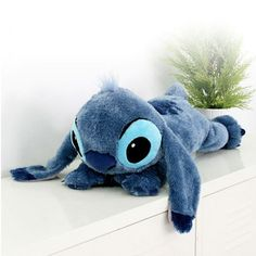 Disney Character Lying Stitch Plush Lilo and Stitch Soft Touch Toys Doll (NEW) L in Toys & Hobbies   eBay
