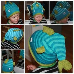 loving this little fish hat, looks like it's swallowing the kids head! i might need to put this on the list of knits for ollie!