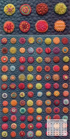 We've been talking up our first collaboration with fiber artist Sue Spargo since Spring Quilt Market. Now the time to celebrate is finally here! Come see Sue's jaw-dropping, hand-sewn works in the new Stitches to Savor: 2016 Wall-Art Calendar—and get your copy before they're gone.