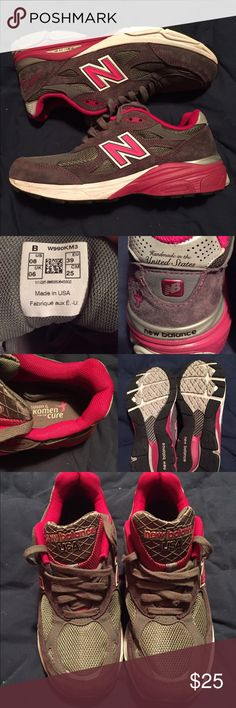 New Balance Athletic Shoes 🏃🏽‍♀️ Susan G Komen 🌸 New Balance shoes ✨ worn once, excellent condition 💗 TRADE / MAKE OFFER New Balance Shoes Athletic Shoes