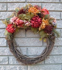 Grapevine Wreath with Fall Accents