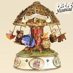 Disney Winnie The Pooh Somebody Loves Me Friends Carosel Eeyore Tiger Piglet