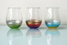 Have to handwash, but these are still pretty cool : Decorate your own glassware
