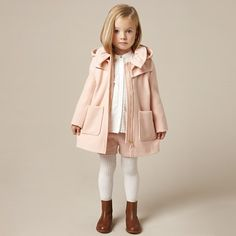 Chloe Pale Pink Wool Coat
