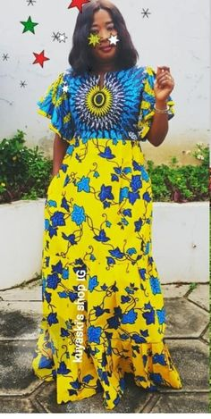 Latest African Fashion Dresses, African Print Dresses, African Dresses For Women, African Print Fashion, Africa Fashion, African Attire, Long Ankara Dresses, Ankara Dress Designs, Best African Dress Designs
