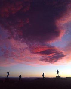 Stunning sunset at San Pedro de Atacama in Chile. Shot on an iphone, not edited!