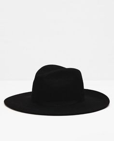 17a5bcfb94c Image 1 of WIDE BRIM HAT from Zara Black Wide Brim Hat