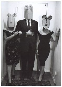 Love these paper bag masks from the 60s!  Inge Morath - Masquerade - 1