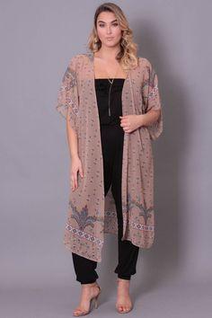 plus size fringe kimono | plus size fashion | pinterest | kimonos