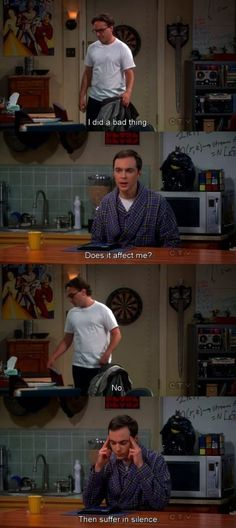 Sheldon at his best.