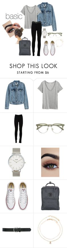 """school"" by misstoffyy on Polyvore featuring H&M, Levi's, CLUSE, Converse, Fjällräven, M&Co and Forever 21"
