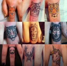 Finger tattoos are awesome What would you choose, love the deer