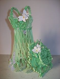 quilling dress and hat