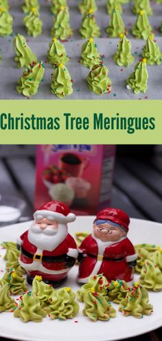 """How to Make Christmas Tree meringues Meringue Christmas Trees Counting down the days until Christmas This year, I'm singing along to Days of Christmas"""" & w/ this recipe for 11 Pipers PipingL Xmas Tree Christmas Tree Meringues Recipe, Christmas Tree Cookies, How To Make Christmas Tree, Christmas Treats, Simple Christmas, Christmas Time, Xmas Tree, Low Fat Cookies, Drop Cookies"""