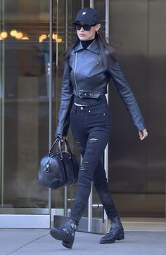 BELLA HADID Leaves Her Apartment in New York 01/16/2017