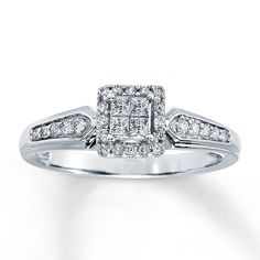 Lightweight 4-Prong Solitaire Ring Mounting Size 7 Length Width 2 14k Two-Tone 1//4ct