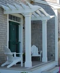 Pergola On Front of House | front entry pergolas