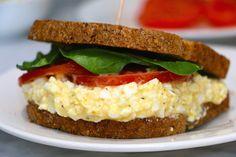 Recipe: healthy egg breakfast sandwich egg-salad-sandwich-healthy - a h Egg Salad Sandwiches, Healthy Sandwiches, Delicious Sandwiches, Pasta Primavera, Egg Recipes, Salad Recipes, Dinner Recipes, Easy Healthy Dinners, Healthy Snacks