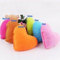 SSWQ Pet Plush Heart-shaped Bed Pillows Dog Cushion >>> For more information, visit now : Pet dog bedding