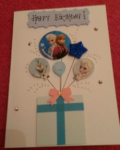 Handmade frozen themed birthday card
