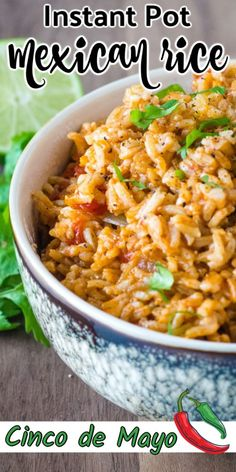 Best recipe for Instant Pot Mexican Rice - quick and easy to make in a pressure cooker! It is an easy and vegan one pot meal that makes a delicious side dish and goes well with tacos, burritos, refried beans or your favorite Mexican dinner. Mexican Rice Recipes, Easy Rice Recipes, Dinner Sides, Dessert, Refried Beans, Snacks, Vegetable Side Dishes, One Pot Meals, Burritos