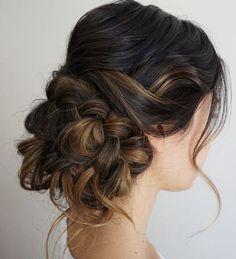 Gorgeous messy low bun wedding hairstyle; Featured Hairstyle: Heidi Marie Garrett
