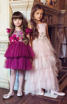 Cute Little Girl Dresses, Baby Girl Party Dresses, Dresses Kids Girl, Baby Dress, Kids Outfits, Flower Girl Dresses, Little Girl Fashion, Kids Fashion, Gowns For Girls