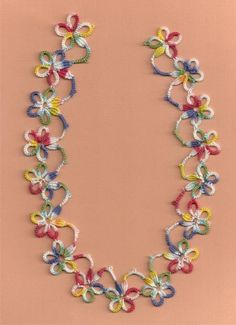 An OLD bit of tatting, and edging with clunies! I think it would make a cute necklace. Tatting Necklace, Tatting Jewelry, Tatting Lace, Crochet Flower Patterns, Crochet Flowers, Crochet Lace, Needle Tatting Patterns, Knitting Patterns, Tatting Tutorial