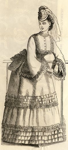 I love using illustrations from fashion magazines printed in the 1800s in my journals - and wanted to share one with you. I have 2 files, one is the original scan, and the other is a fun one I made...