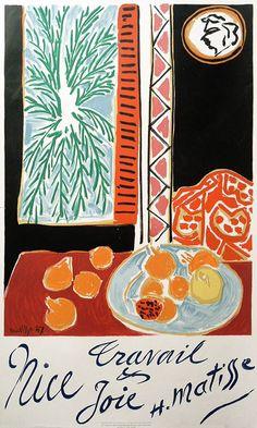 Travail et Joie - Nice by Henri Matisse