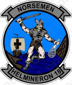 M.C. Graphic Decals - STICKER USN HM 18 Norsemen, $3.00 (http://www.mcgraphicdecals.com/sticker-usn-hm-18-norsemen/)