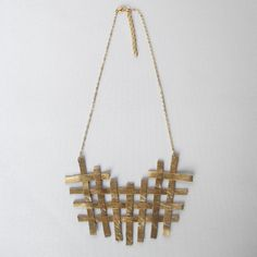 Fab.com | Criss Cross Necklace Gold