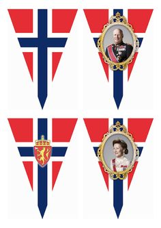May Norwegian National Day – Free Printable Flag Banner Wings of Whimsy: FREE Printable Norwegian National Day Flag Banner - free for personal use
