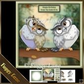 Whooooo's Having A Birthday Mini Kit Tri Fold Cards, Slider Cards, Pocket Cards, Folded Cards, Card Tags, Gift Tags, Stepper Cards, Wine Bottle Tags, Bead Embroidery Patterns