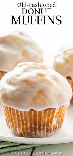 Simple Muffin Recipe, Healthy Muffin Recipes, Donut Recipes, Baking Recipes, Dessert Recipes, Vanilla Muffin Recipe, Muffin Recipies, Healthy Muffins, Donut Muffins