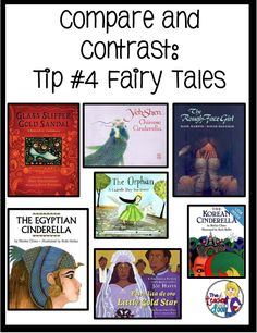 Comparing and contrasting fairy tales plus lots of other easy to use tips to teach Compare and Contrast on Upper Elementary Snapshots.