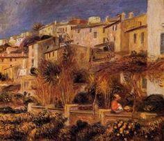 Terraces at Cagnes - Pierre-Auguste Renoir