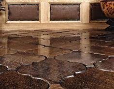 Wooden parquet flooring tiles from Jamie Beckwith