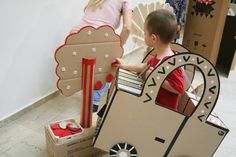The car is such an amazing idea! The rest of her blog has some awesome stuff on it too! I wish I were that crafty.