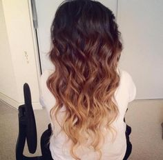 Curled Ombre Hair